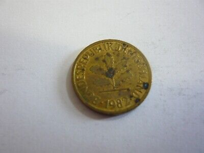 Rfa 5 pfenning pièce mark allemagne germany 1982 G