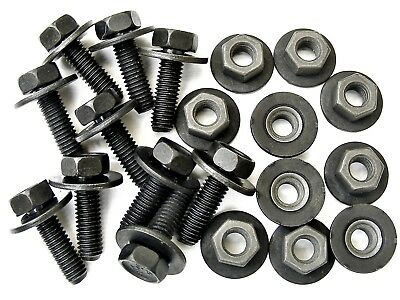 Nissan Body Bolts & Barbed Nuts- M6-1.0mm x 20mm Long 10mm Hex- Qty.20- #386
