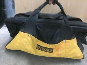Dewalt tool bag with cordless grinder & 8 batteries