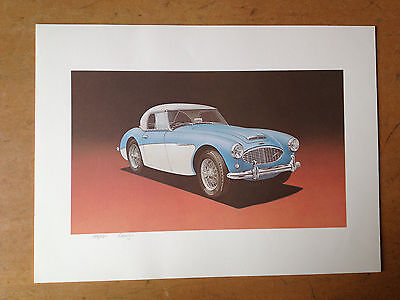 """AUSTIN HEALEY 100-6 """"DONALD HEALEY COLLECTION"""" SIGNED LIMITED EDITION LITHOGRAPH"""