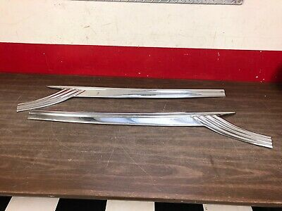 1956 FORD FAIRLANE FRONT DOOR TRIM LH & RH PAIR NOS  120