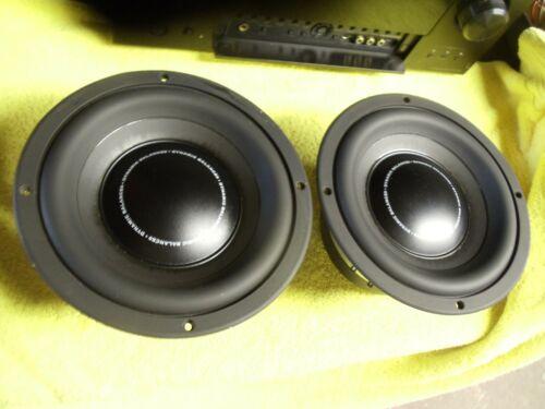 Polk Audio 2 Ohm Stereo Speaker Driver MW 8500 Sub Woofer Pair RT3000p