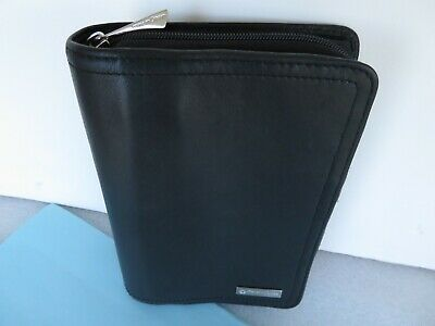 Pocket 1- Rings Franklin Covey Black Leather Unstructured Zip Plannerbinder