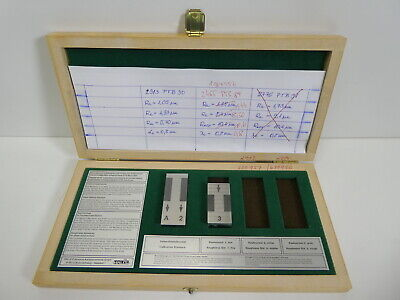 2pc Halle Roughness Reference Standard Gage Gauge Master Calibration