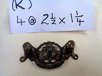 4 ART NOVOUE BRASS HANDLES (K)
