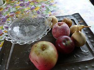ancienne coupe fruit verre travaill plus les fruits belle d co sur table ebay. Black Bedroom Furniture Sets. Home Design Ideas