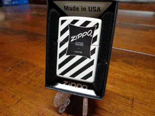 1951 ZIPPO LEATHER CRAFTED BOX DESIGN ZIPPO LIGHTER MINT IN BOX