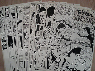 Nicholas Alascia JUST MARRIED #113 ORIGINAL COMIC ART Complete Story 9 Pgs 1976