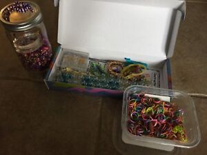 Beads and rainbow loom.