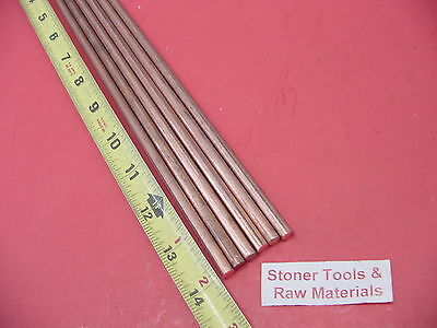 6 Pieces 14 C110 Copper Round Rod 14 Long H04 .250 Cu New Lathe Bar Stock