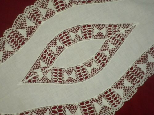 Antique&Vintage  Cotton White Crochet Lace Runner**Code:a203**