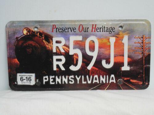 Pennsylvania Preserve Our Heritage Railroad License Plate PENNA PA