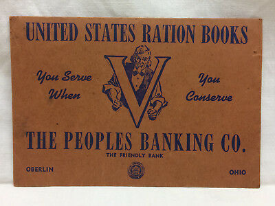 Ww2 United States Ration Books Envelope Oberlin Ohio The Peoples Banking Co