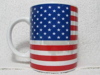 Stars & Stripes American Flag Tea Coffee Mug Cup USA Patriotic Red White Blue  ()