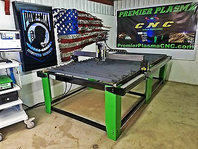 Cnc Plasma Cutting 4x8 Premier Plasma Flat Deck Table W Floating Head Usa