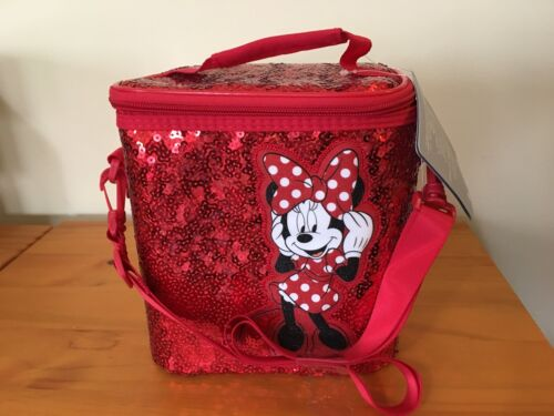 NWT Disney Store Minnie Mouse Lunch Box Tote Bag School Red Girl