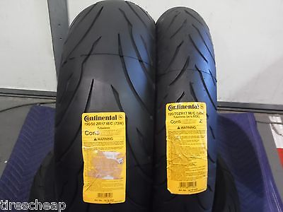 120/70ZR17 & 190/50ZR17 CONTINENTAL SPORT BIKE 2 TIRE SET 120/70-17 190/50-17