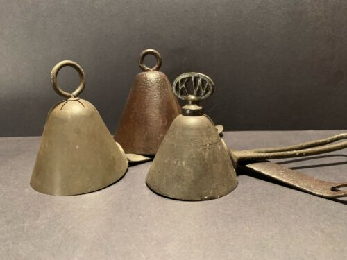 Vintage Metal Ice Cream Scoops - Lot of 3 - Antique Kitchen Collectible Rare Old