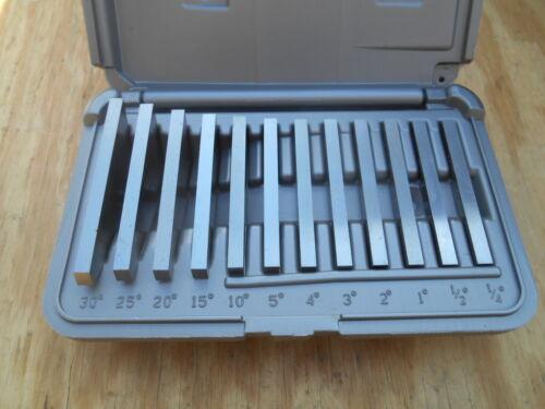 Brown & Sharpe 599-921-18 Ultra Precision 12pc Angle Block Set, 1/4°-30° Blocks