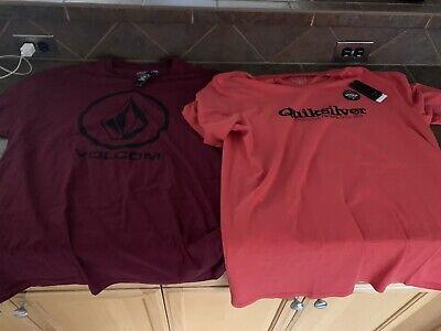 1 Volcom Shirt 1 Quiksilver Shirt Mens XXL