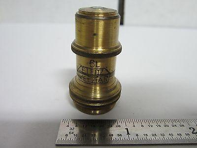 Microscope Vintage Leitz Wetzlar Germany Objective 6l 45x Optics Dwr2-dt-10