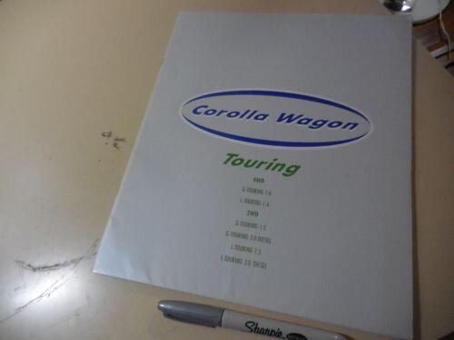 TOYOTA COROLLA WAGON Touring Japanese Brochure 1995/08 100/104 5A-FE 4A-FE 2C-3