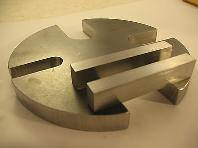 8 Steel 3 To 4 Ton Slotted Arbor Press Anvil Wheel Plate 2 Essential Bars