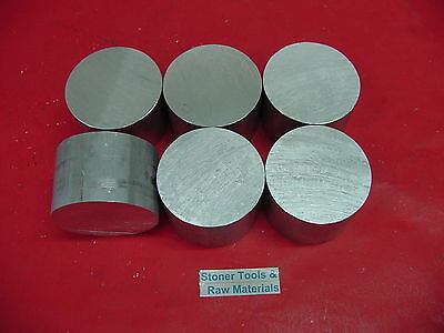 6 Pieces 1-58 Aluminum 6061 Round Rod Solid Bar 1.5 Long New Lathe Stock