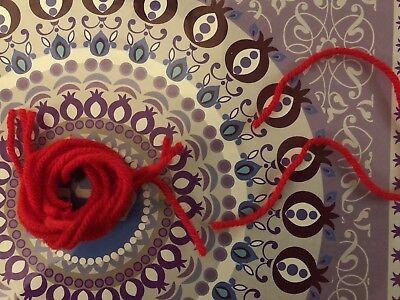 Red 8 WOOL Kabbalah Mystical Zohar String 8 Israel Protection From Evil Eye1FREE
