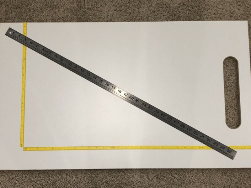 "VTG Lufkin No.95 NOS Circumference Steel Rule Ruler Machinist Farm Tool Rare 36"""