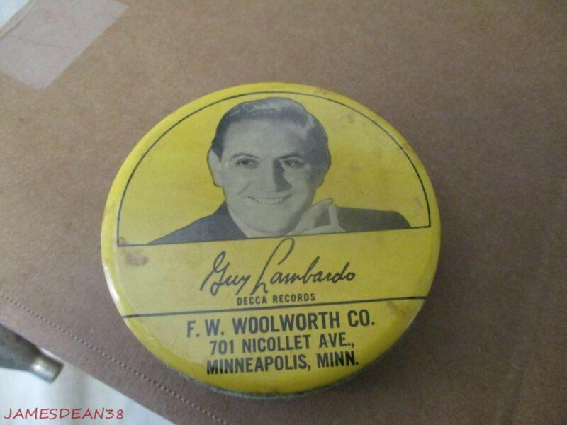 Vintage Decca Record CLEANER Guy Lombardo FW WOOLWORTH MINNEAPOLIS MINNESOTA