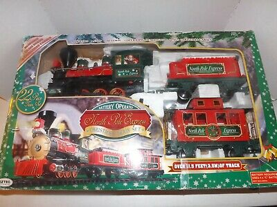 EZTEC North Pole Express Christmas Train Set Battery Operated Light and Sounds
