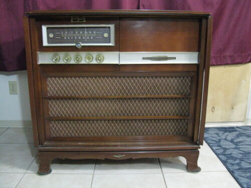 RCA Stereo Orthophonic Model SHC-2 Console *1959* Works - 14 Tube Dual Amplifier