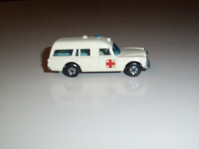 "MATCHBOX SUPERFAST #3 MERCEDES BENZ ""BINZ"" AMBULANCE"