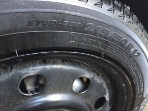 Michelin 215/50r17 + rims + tire pressure sensor
