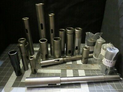 Straight Shank Collets Sleeves Extensions To Morse Taper - Arbors Adapters