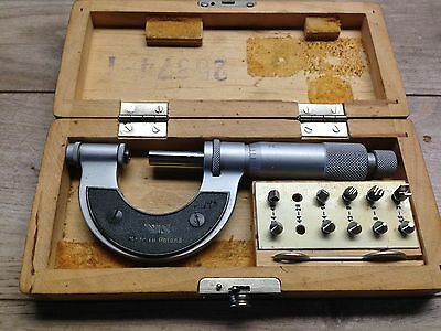 Vis Poland Thread Micrometer 0 - 1 .001  Anvils