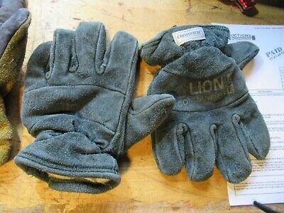 Lion Honeywell Pro-tech Firefighter Gloves Fireman Turnout Gear Size M