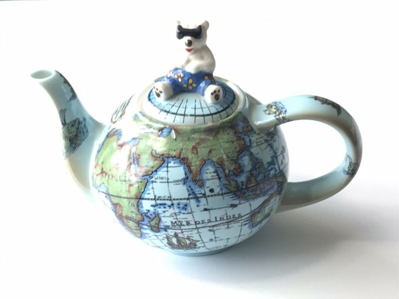 Paul Cardew Global Warming Map Globe Teapot RETIRED Rare