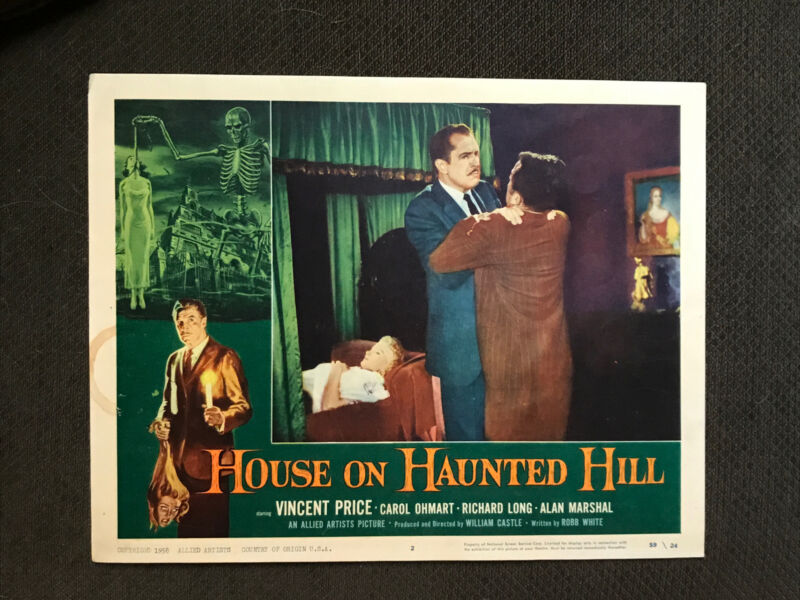 The House On Haunted Hill - Original Lobby Card - Vincent Price