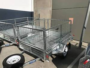 6X4 Galvanized Box Trailer + 600mm Cage + Free Spare wheel Coopers Plains Brisbane South West Preview