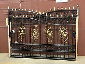 New 20 ft wrought iron gate