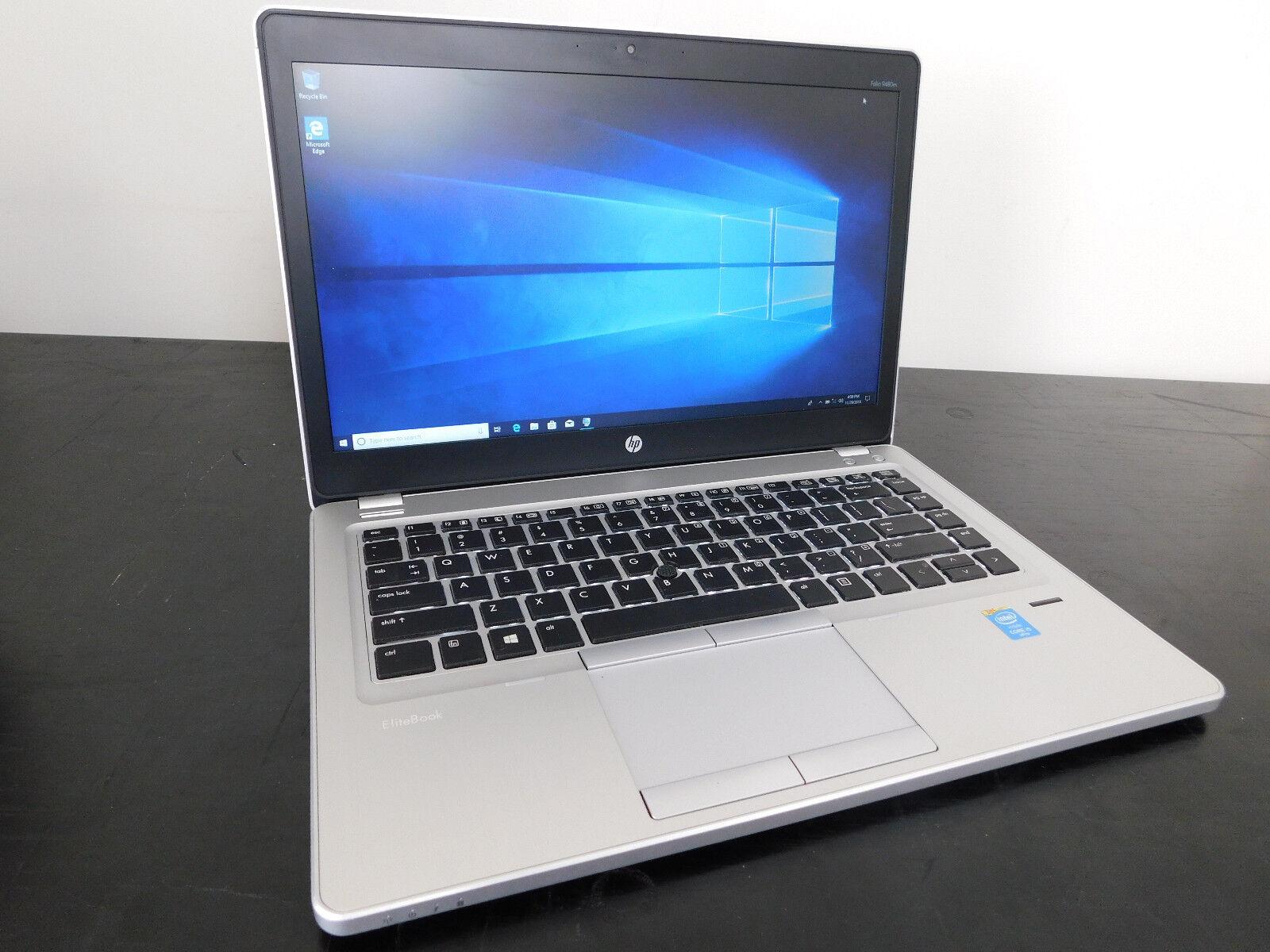 HP EliteBook Folio 9480M i5-4310U @ 2 GHz 180 SSD 8 GB RAM Windows 10 Pro