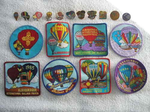 1980's Albuquerque International Balloon Fiesta Pin & Patch Lot - AIBF New Mex.
