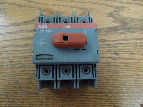 Abb Ot125e3 100a 3p 600vac General Purpuse Switch Used