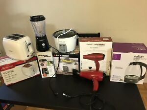 Moving sale: small appliances