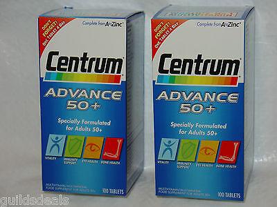 CENTRUM ADVANCE Adult 50+ A - Zinc Multi Vitamin MINERALS 100 or 200 TABLETS