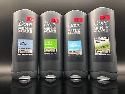 - Dove Men Care Body & Face Moisture Wash Clean Comfort 4 PK Combo Set 400ML(each)