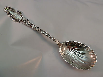 Durgin Serving Spoon Sterling Silver Watteau Pattern Shell Bowl Antique Rare