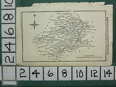 c1833 GEORGIAN MAP ~ MONTGOMERYSHIRE ~